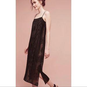 Anthropologie Floreat Embroidered Luna Slip Dress